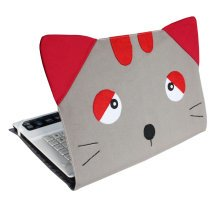 [Cat] Lovely Canvas Laptop Case Computer Bag Cover for Laptop