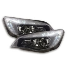 headlight Daylight with DRL Opel Astra J Year 2009-2012 black