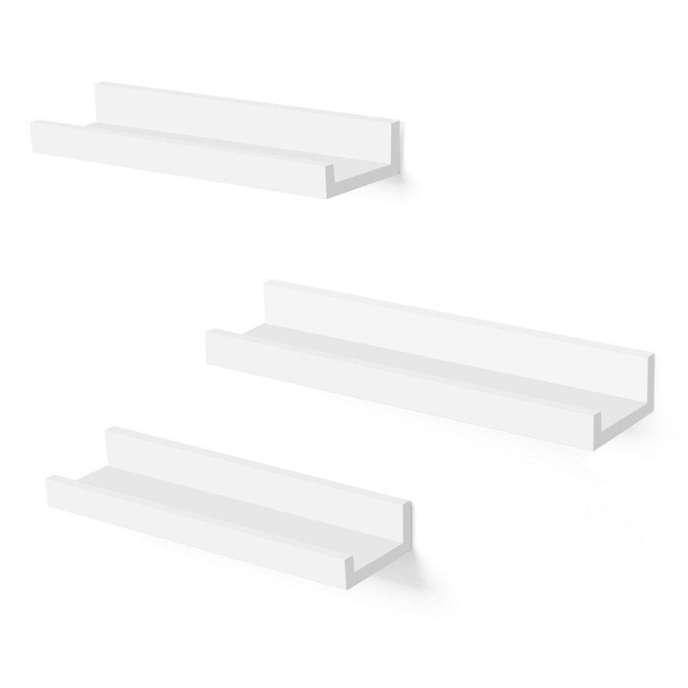 Superb Songmics Wall Shelf 3 Set Floating Shelves Ledge For Picture Frames And Books 38 X 10 Cm Mdf White Lws38Wt Interior Design Ideas Gentotryabchikinfo