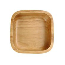 Wooden Dinnerware Fruit/ Meat/ Dessert Dishes Square Food Bowl 18 X 18 CM