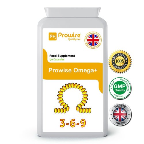 Prowise Omega 3 6 9 Fish Oil 90 Capsules 1000mg UK Made