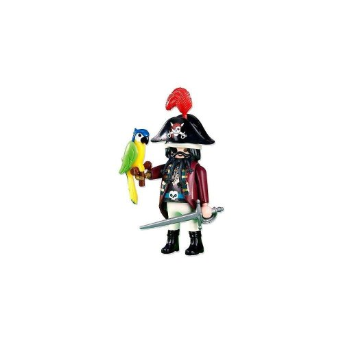 Playmobil Add-On Series - Pirate Captain With Parrot