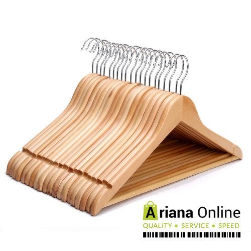 ARIANA HOMEWARE® PACK OF 40 Wooden Clothes Coat Hangers