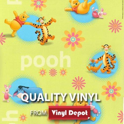 Vinyl Depot Sticky Self-Adhesive Decor Green Winnie The Pooh 450mm/m
