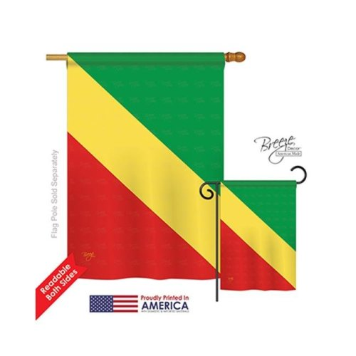 Breeze Decor 08293 Congo 2-Sided Vertical Impression House Flag - 28 x 40 in.