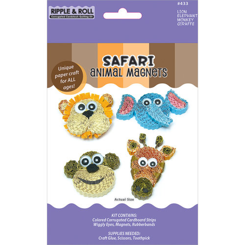 Quilled Creations Quilling Magnet Kit-Safari
