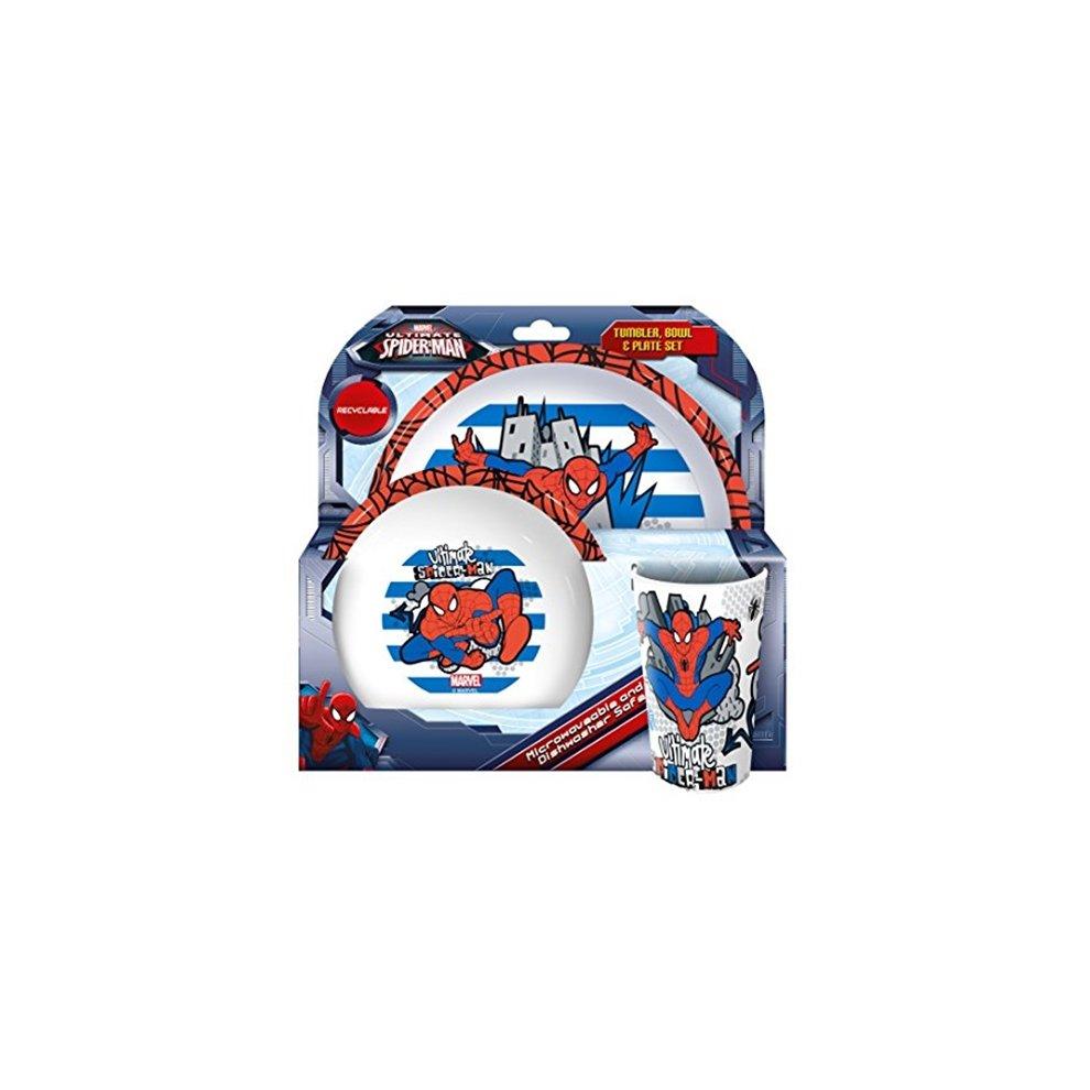 Spiderman 3 Piece Dinner Set - Marvel Ultimate Tableware Plate Bowl Cup - spiderman marvel dinner. u003e  sc 1 st  OnBuy & Spiderman 3 Piece Dinner Set - Marvel Ultimate Tableware Plate Bowl ...