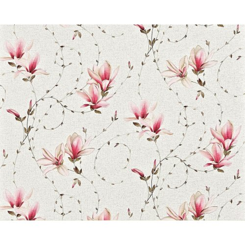 EDEM 902-15 non-woven cottage wallpaper XXL flowers fuchsia pink cream 10.65 sqm