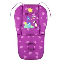 Cut Breathable Thicken Baby Strollers Mat Stroller Seat Liners - Purple Deer