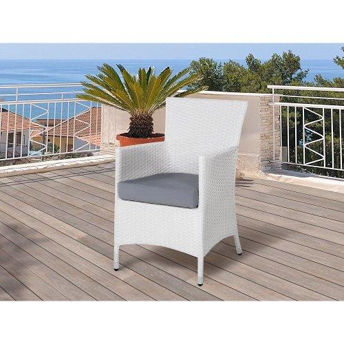 Garden Chair - Rattan Chair - White - ITALY
