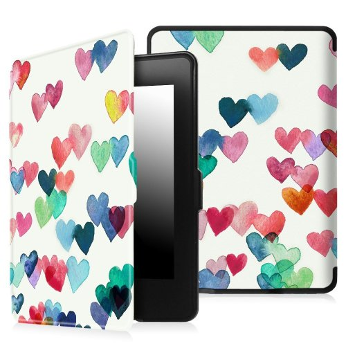 Fintie SlimShell Case for Kindle Paperwhite, Raining Hearts