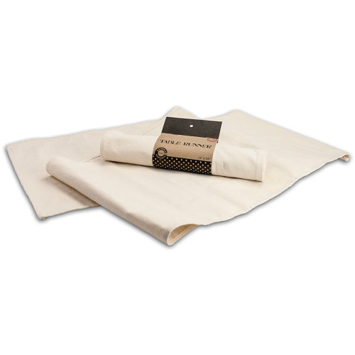 "Canvas Table Runner 14""X58""-Natural"