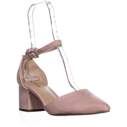 Call It Spring Aiven Block-Heel Ankle-Strap Pumps, Pink, 7 UK