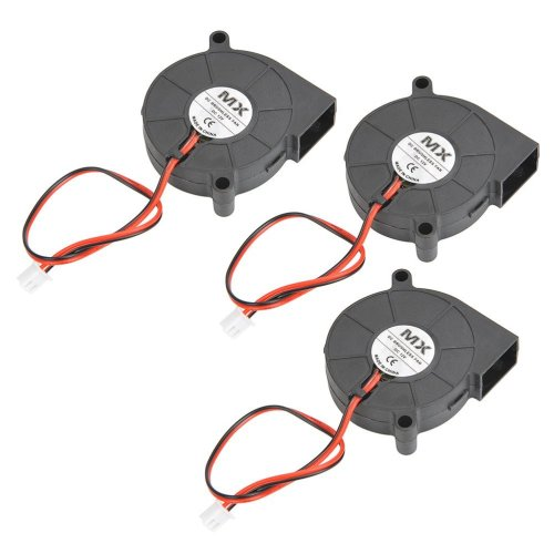 YOTINO 3 Pcs DC 12V 3D Printer Cooling Fan Blower Fan for Cooling Heatsinks 3D Printer(50 x 50 x 15mm, black)