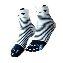 Beautiful Tube Toe Scoks Soft Cotton Black Socks