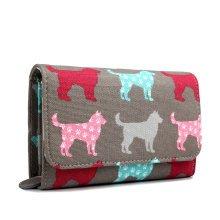 Miss Lulu Women Dog Canvas Purse Wallet Clutch Hand Bag