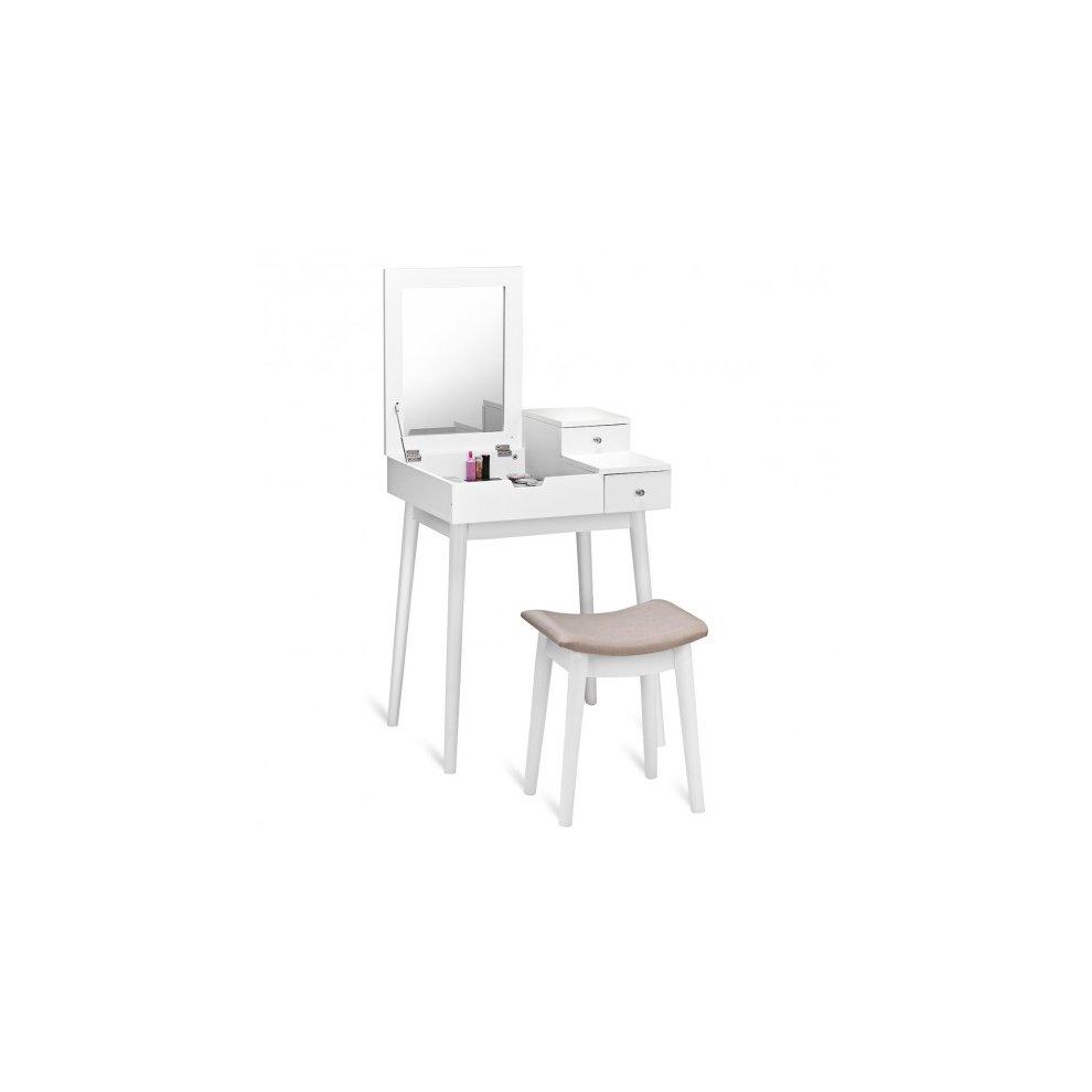 Fabulous Small White Vanity Table Set White Modern Dressing Table Ncnpc Chair Design For Home Ncnpcorg