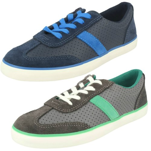 Boys Clarks Casual Shoes Club Walk - G Fit