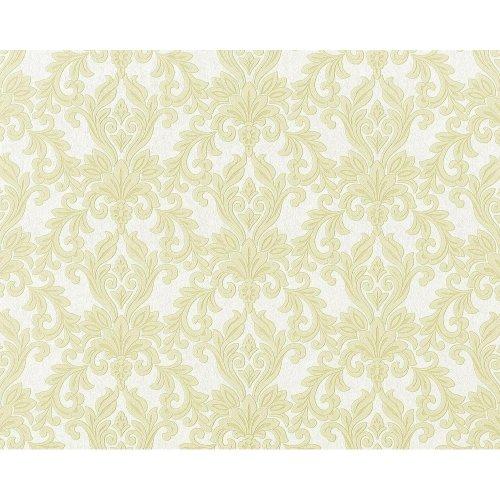 EDEM 696-95 XXL baroque damask non-woven wallpaper white light green | 10.65 sqm
