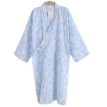 Japanese Style Women Thin Cotton Bathrobe Pajamas Kimono Skirt Gown-D02