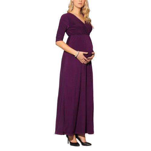 Maternity Cross-Over Maxi Dress