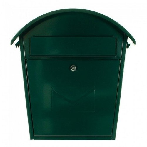 Traditional Post Box Steel Wall Mounted Green Rottner Jesolo