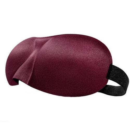Adjustable Eye Mask Sleep Mask Eye-shade Relaxing Sleeping Eye Cover-Rose Red