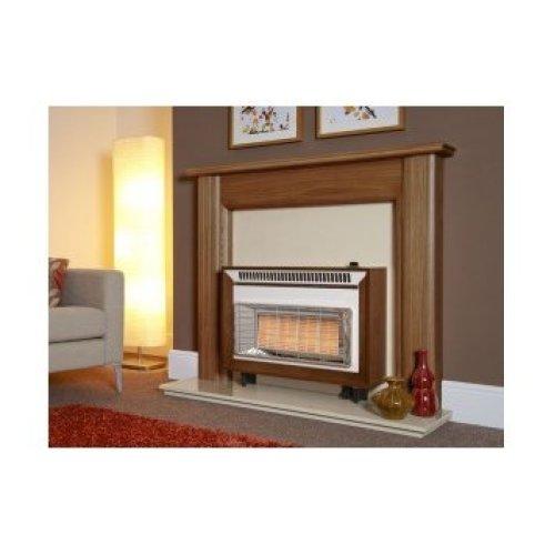 Designer Fire - Flavel FORMN0EN Medium Oak Misermatic Gas Fire - EC