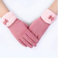 Women Outdoor Windproof Touch Screen Gloves