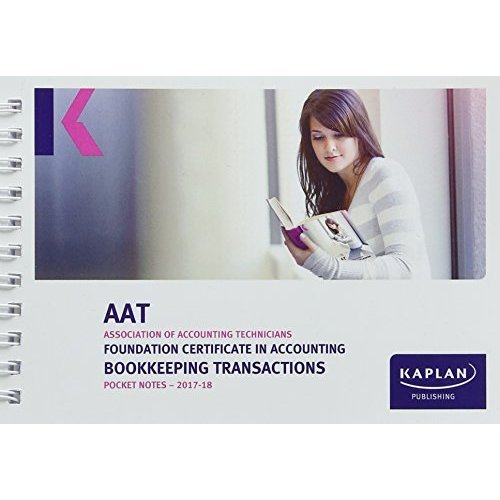 Bookkeeping Transactions - Pocket Notes