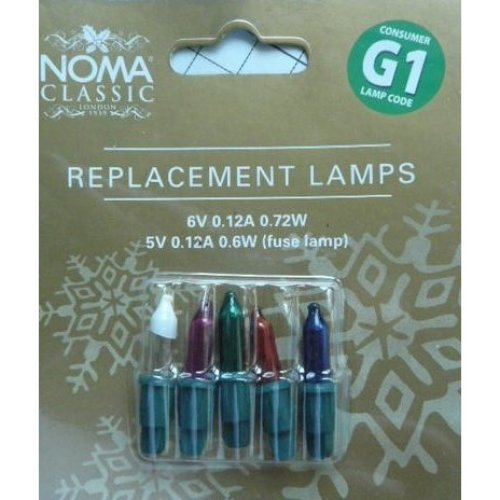 Noma G1 6volt Replacement Lamps spare Bulbs Multi Coloured