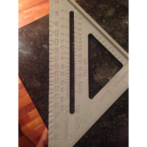 """6"""" Aluminium Roofing Square - 6 Rafter Guide Amtech 150mm Mitre Angle -  square 6 aluminium roofing rafter guide amtech 150mm mitre angle"""