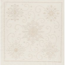 "Janlynn Candlewicking Embroidery Kit 14""X14""-Snowflakes-Stitched In Thread"