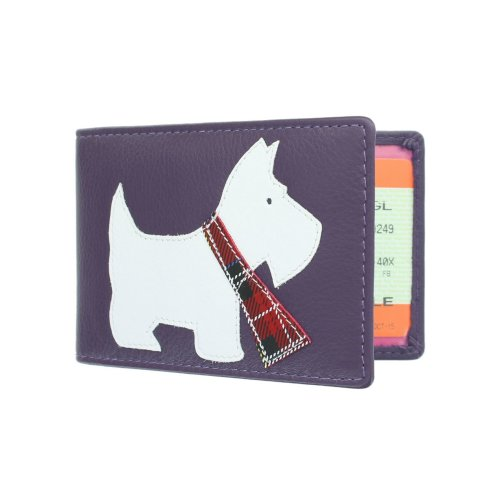 Mala Leather Best Friends Collection Leather Travel Card Holder 638TC_65 Purple