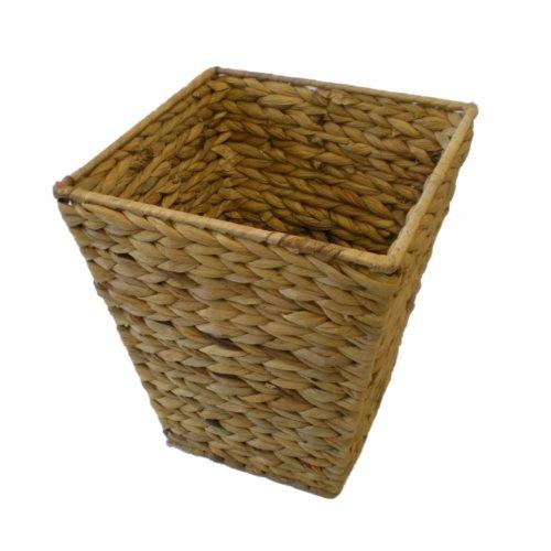 Natural colour Handmade Water Hyacinth Wastepaper Basket