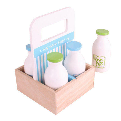Bigjigs Toys Wooden Milkman Delivery