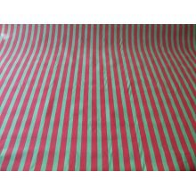"Funky Stripe Poly Cotton Fabric by the metre - 44"" / 112cm Wide - Red / Green"