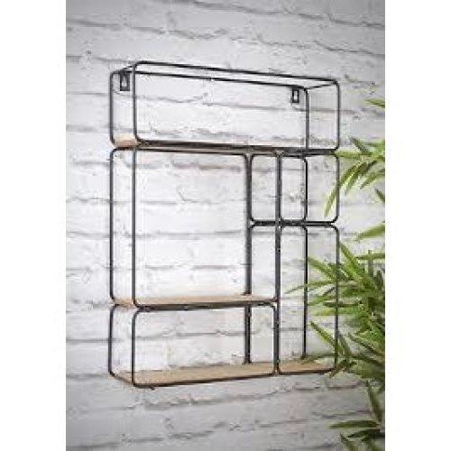 Industerial Style Metal Single Multishelf Black Display Organizer Unit