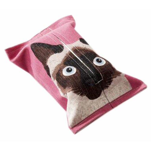Convenient Cloth Toilet Paper Tissue Holder Storage Box Cat Black