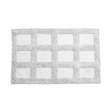Cotton Squares Bath Mat - White