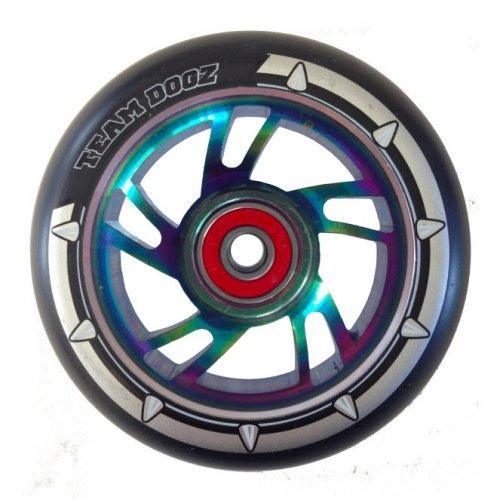 Team Dogz 100mm Alloy Swirl Wheels - Mixed PU