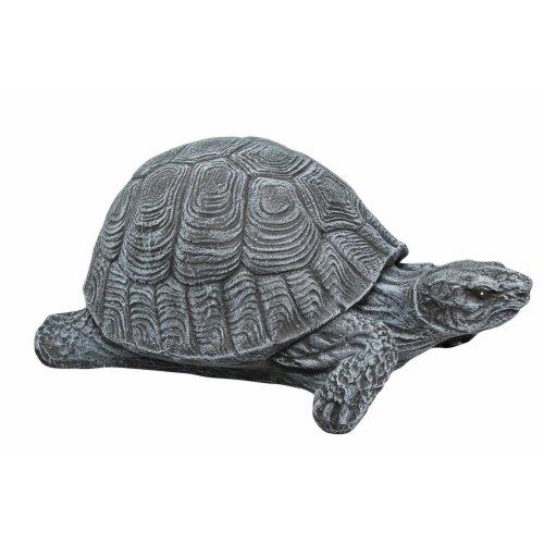 Garden ornament Tortoise,Cast stone, Slate grey