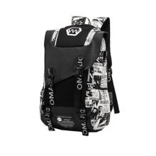 Fashion School Laptop Backpack Lightweight Travel Backpack,printing white