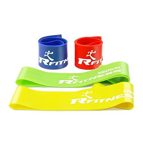 Furinno Rfitness Professional Loop Stretch Exercise Band 4 PC Set RF1503 4