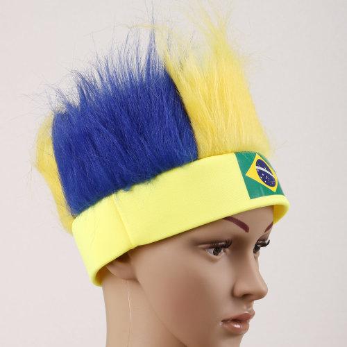 TRIXES Brazil Novelty Wig Headband Hat
