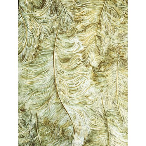 Profhome 822202 Exclusive luxury wallpaper shiny gold green-brown 5.33 sqm