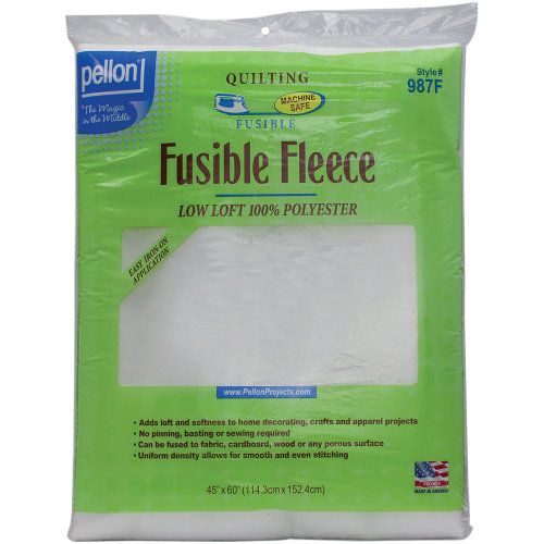 """Pellon Fusible Fleece-White 45""""X60"""""""