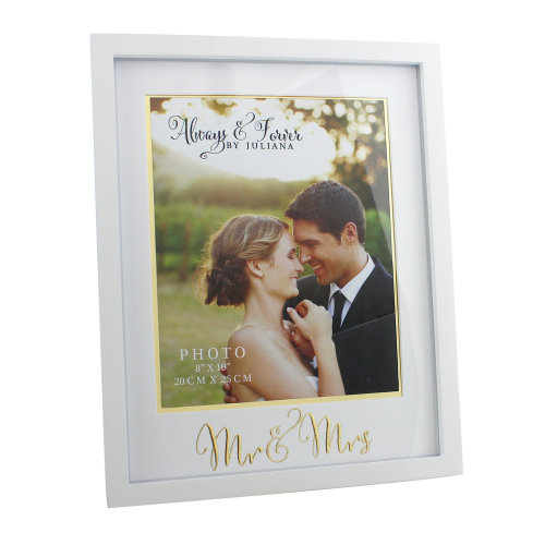Always And Forever MDF Frame With Gold Words 'Mr. And Mrs.' 8x10