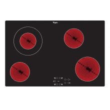 Whirlpool AKT833NE | 77cm Touch Control Ceramic Electric Hob - Black