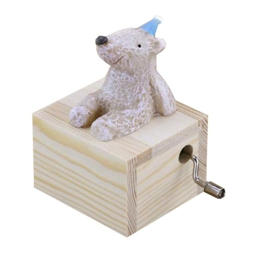 Mini Hand Crank Music Box Animal Music Box Height Approx 3.1 Inch ?¨Bear??